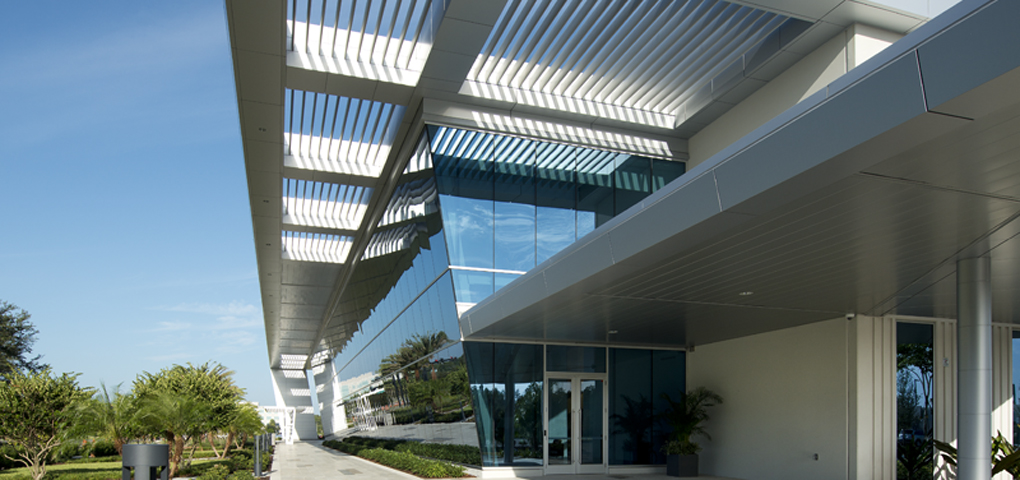 Walkway Covers, Sunscreens and Metal Wall Panels
